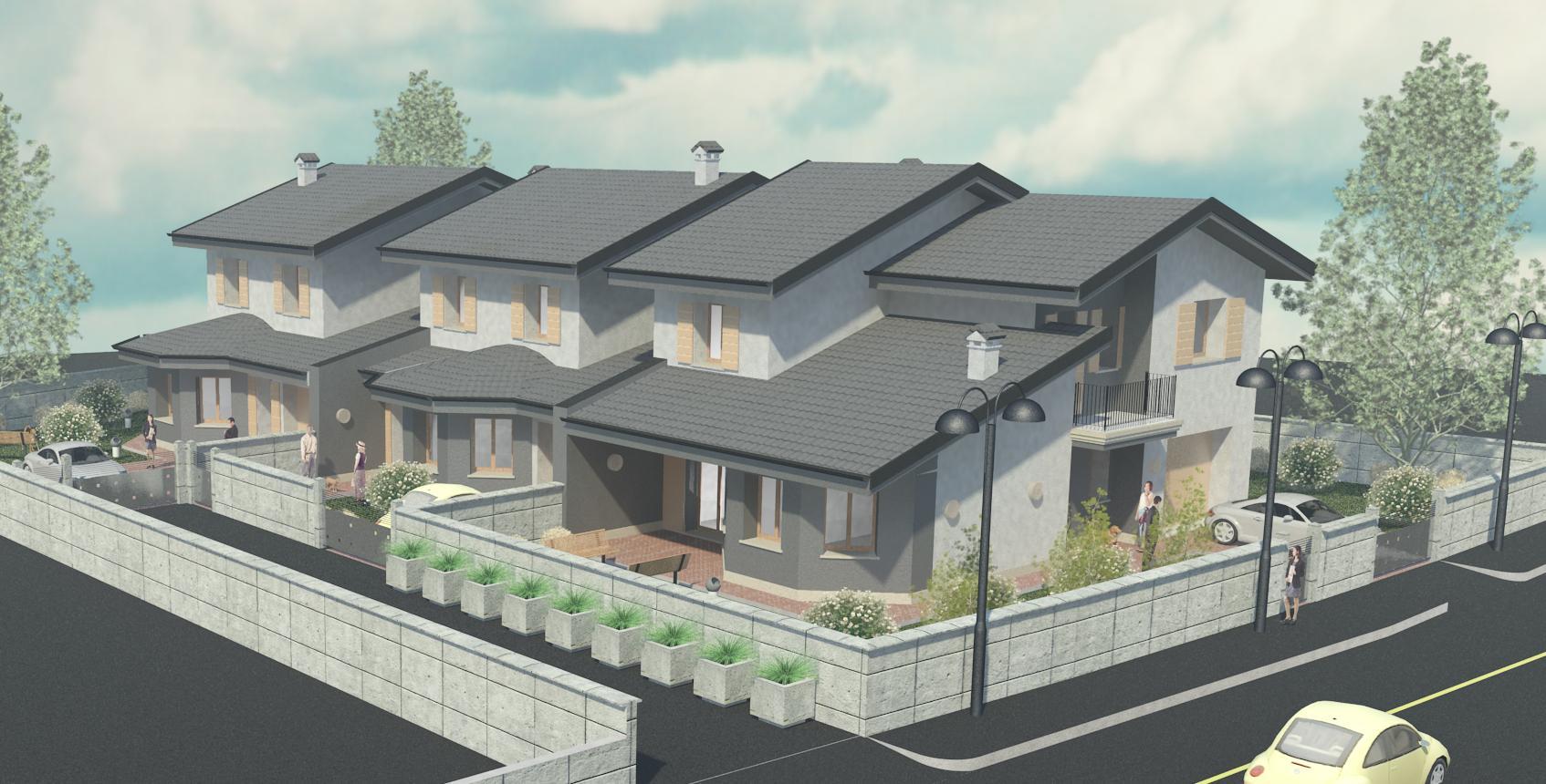 Edil crea padana s r l render edilcrea for Villette progetti
