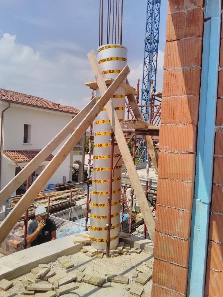 Getto Pilastri Rotondi in Cls a vista
